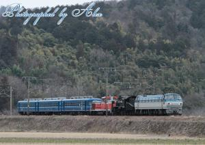 SLあおなみ号甲種(EF66-126+C56-160+DE10-1118+12系(3両))