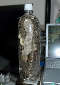 500円玉貯金、満額!