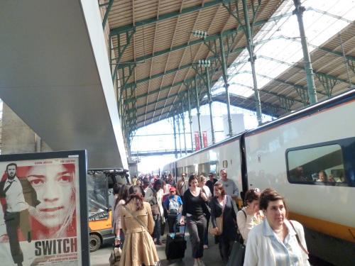 パリ北駅到着