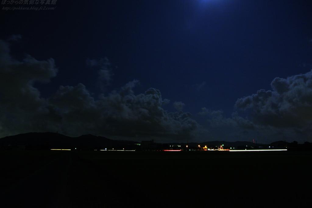 田舎風景:夜雲