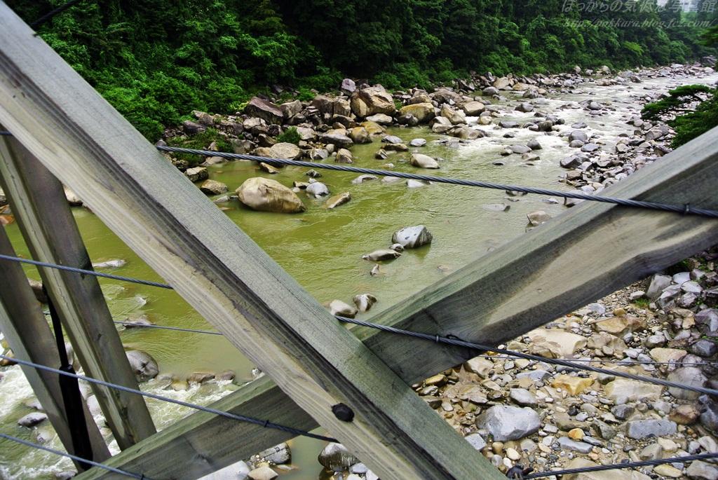 桃介橋から見た木曽川