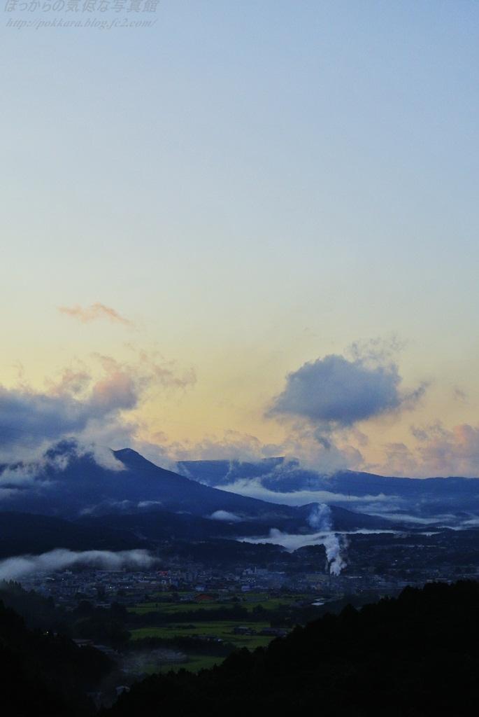 阿木川ダムからの夕景
