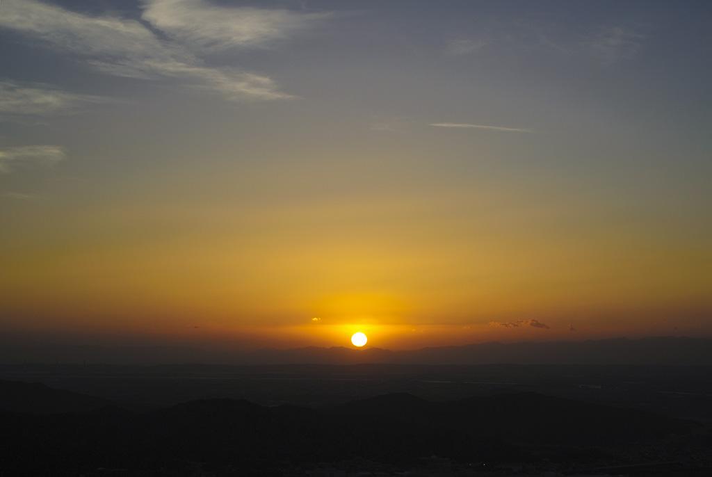 湾スカからの夕陽②