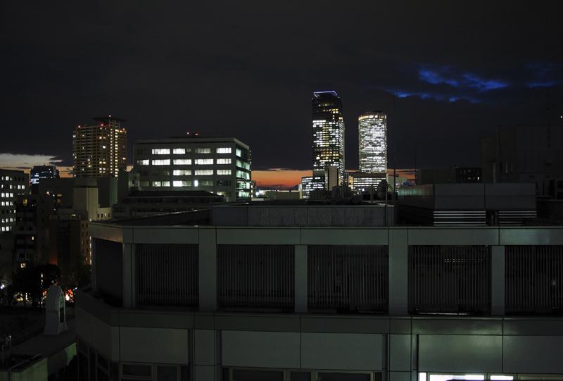 11_21夕暮れの名古屋