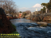 $ぽっからの気侭な写真館-神田川と浮き富士