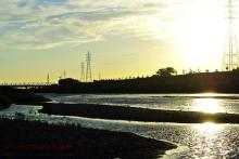 $ぽっからの気侭な写真館-矢作川と夕陽