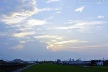 $ぽっからの気侭な写真館-夕陽に照らされる雲