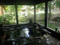 """[写真]亀山温泉 """"湖水亭 嵯峨和"""" の岩風呂"""