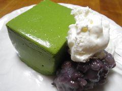 [写真]東京/神楽坂・紀の善の抹茶ババロア