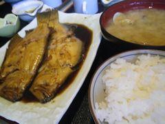 [写真]富津・食い処 魚忠の煮魚定食
