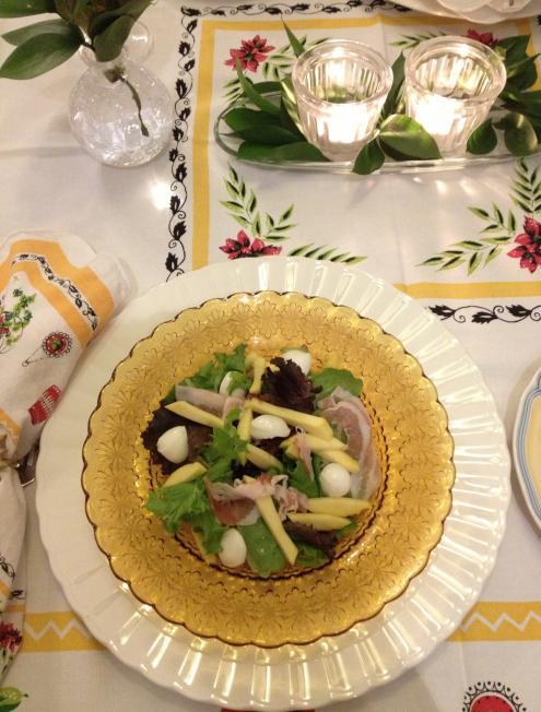 サラダ(2回目、マンゴー)