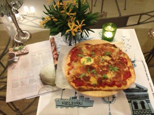 雑誌とピザ(1回目)
