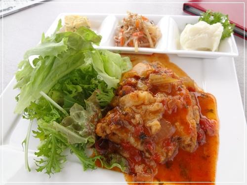 お魚ランチ(白身魚のトマト煮)