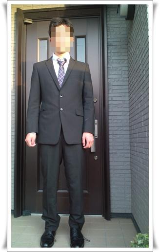 息子スーツで
