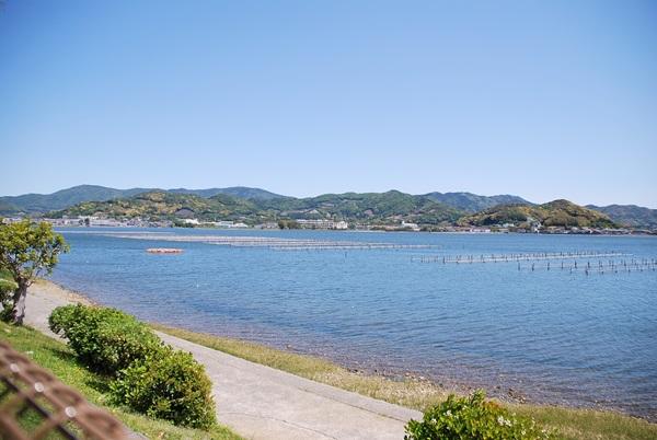奥浜名湖に面したドッグラン