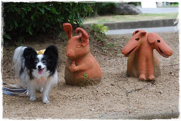 最後に動物の埴輪と記念撮影