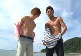 ゲイ動画:[男のプリケツ] イケメン男子達の競パン対決フェラでGO !! 好帥哥