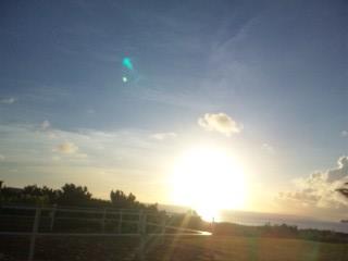 西表島の朝日1
