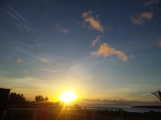 西表島の朝日3