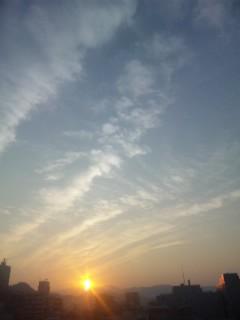 ミーママが見た空と夕日