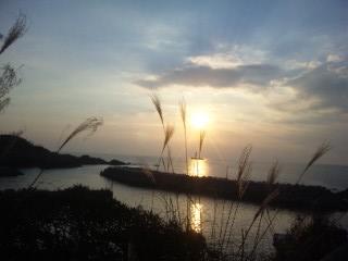 出雲、日本海の夕暮れ