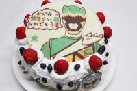 獣電戦隊キョウリュウジャー グリーンバースデーケーキ 手作り