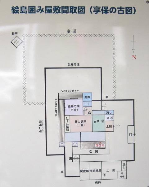 囲み屋敷見取図