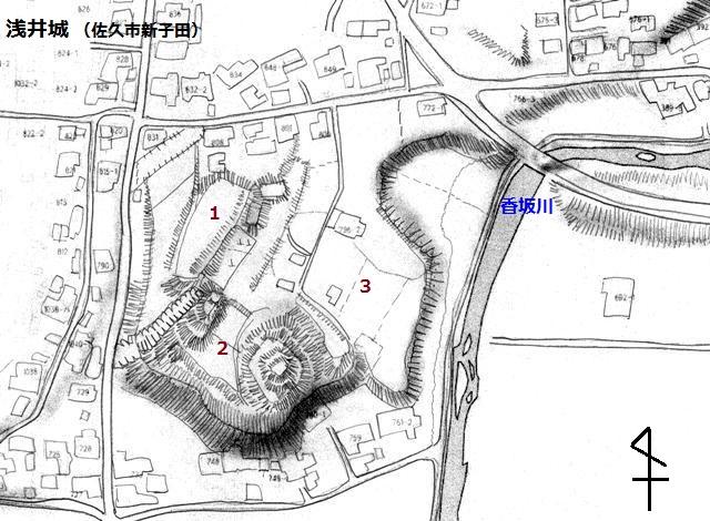 浅井城 見取図①