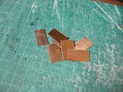 手ごろなサイズに切った銅版