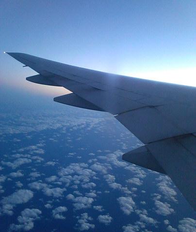 帰りの機内から