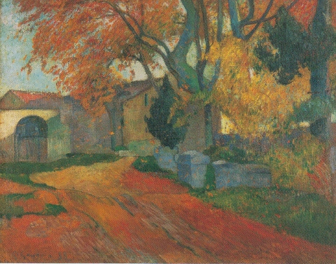 10Paul Gauguin LAllee des Alyscamps Arles 1888