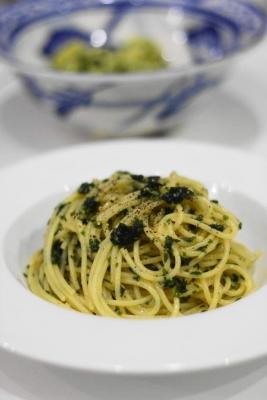 和風ジェノベーゼのスパゲティ
