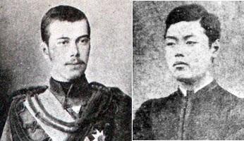 ロシアのニコライ皇太子と津田三蔵