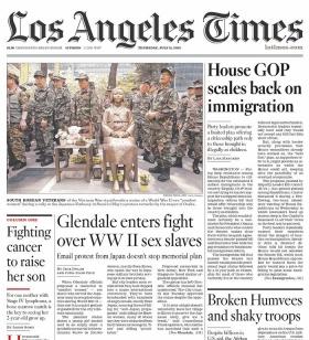 11日のロサンゼルス・タイムズ