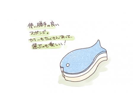 魚型スポンジ