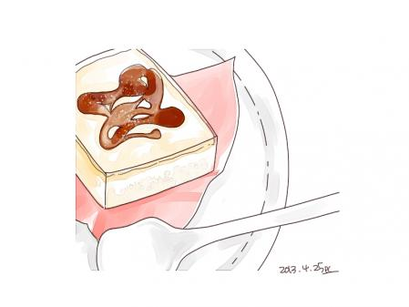 四角いプリンのケーキ2