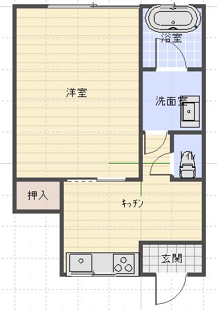 上村ビル1間取