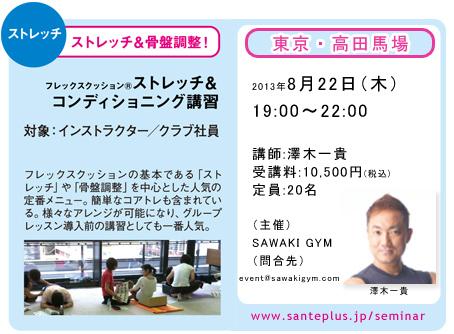 201308ストレッチ&コンディショニング講習会(澤木先生)