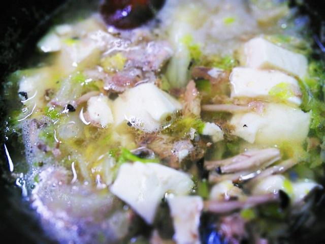 鯖の水煮みどれ鍋