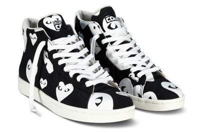 CDG PLAY CONVERSE PRO LEATHER HIGH2