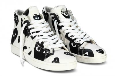 CDG PLAY CONVERSE PRO LEATHER HIGH