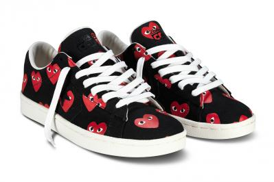 CDG PLAY CONVERSE PRO LEATHER LOW2