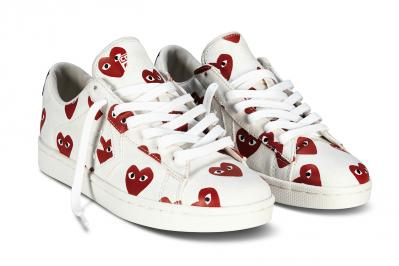 CDG PLAY CONVERSE PRO LEATHER LOW