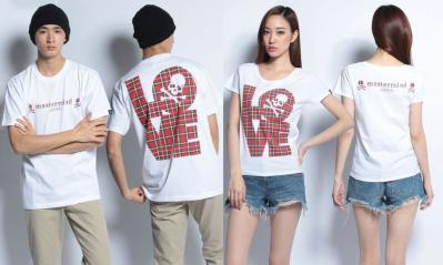 mastermind LOVE CHECK Tシャツ