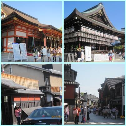 八坂神社と祇園花見道