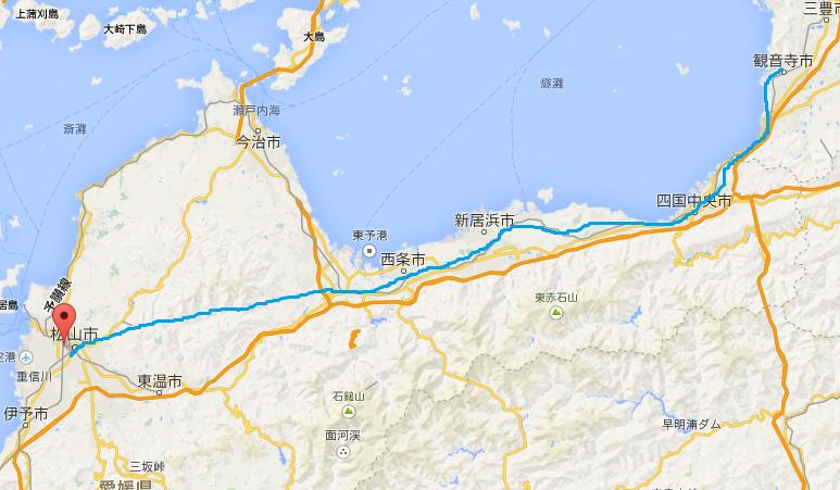 観音寺‐松山 別ルート