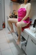 人妻 裸エプロン&ヌード画像 8