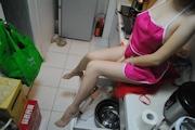 人妻 裸エプロン&ヌード画像 9