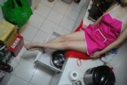 人妻 裸エプロン&ヌード画像 11