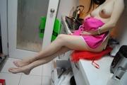 人妻 裸エプロン&ヌード画像 14